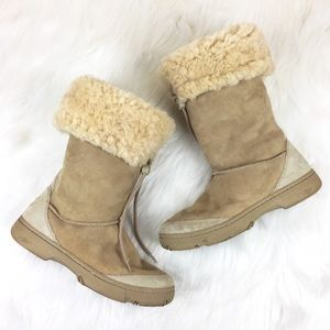 UGG Ultimate Tall Shearling Draw String Boot Sz 9
